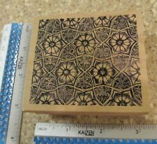 PRETTY FLOWER BACKGROUND MW RUBBER STAMP-MAGENTA