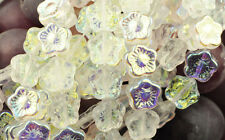 25 Crystal AB Czech Glass Flower Beads 12MM