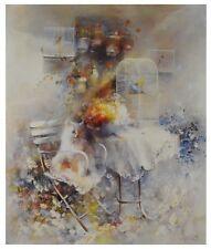 William Haenraets Ohne Titel (Katze mit Vogelkaefigen) Poster Bild Kunstdruck