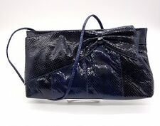 VINTAGE Blue Snakeskin Shoulder Bag
