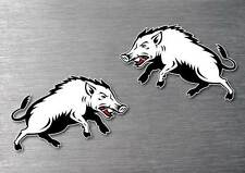 feral pig wild boar stickers 2 pack 7yr water & fade proof vinyl 4wd hunting