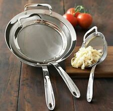 All-Clad 3-Piece Stainless-Steel Strainer Set Over Bowls Pots Confortable Chef