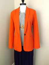 NEW Coldwater Creek Soho Twill Jacket P10 PM Orange Blazer Single Button Womens