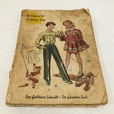 Vtg Der Goldene Schnitt Sewing Drafting Pattern Book Childrens German 40's RARE