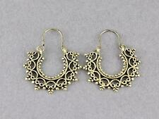 Gold earrings small hoops filigree medallion earrings door knocker hoop huggie