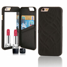 Flip Mirror Hard Cases With Wallet Card Holder Stand Cover For iPhone 6S Plus