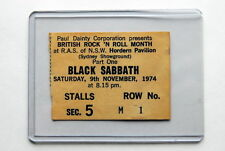 AC/DC ULTRA RARE TICKET SYDNEY 9TH NOV 1974 EARLY TOUR SUPPORTING BLACK SABBATH