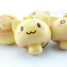 DIY Cartoon Expression Mushroom Soft Squishy phone Charm Cute Bread Doll Straps
