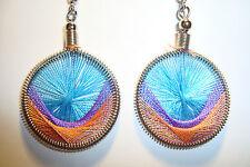 Peruvian Alpaca Silver & Handmade Dreamcatcher Thread  Earrings~NT2~uk seller