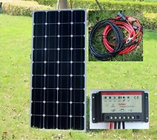 100w PV Solar Panel with 10A 12v / 24v Battery Charger Controller - Caravan New