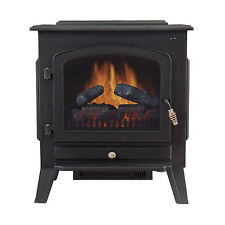 Tahoe 90402200 120-Volt Electric Stove Fireplace Heater with Thermostat Control