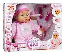 NEW! Bayer Design Interactive Doctor Baby Doll Set with Medical Kit for 2 years+
