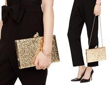 Kate Spade Wedding Belles I Kissed A Frog Emanuelle Clutch Shoulder Bag Gold NWT