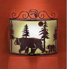 NEW REMOTE CONTROLLED BEAR WALL SCONCE NIGHT LIGHT CABIN LODGE STAIR LIGHTING