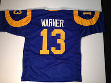 St. Louis Rams Kurt Warner UNSIGNED CUSTOM Blue Jersey - Medium