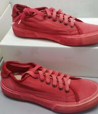 PANTOFOLA D'ORO SNEAKERS CANVAS TN36 ROSSO VIVO 42 RED SHOES UNISEX UOMO DONNA