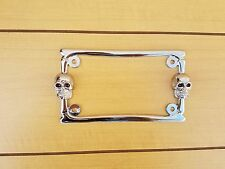 CHROME LICENSE PLATE FRAME FOR MOTORCYCLE.