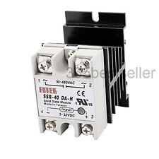SSR-40DA-H DC-AC 40A Solid State Relay 3-32VDC/90-480VAC + Heat Sink