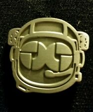 Disco Biscuits Astronaut Pin silver colored camp bisco edm jamtronica barber