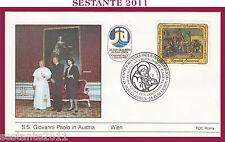 W2 VATICANO FDC ROMA  VIAGGIO PAPA GIOVANNI PAOLO II IN AUSTRIA WIEN 1988