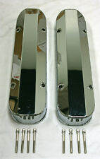 "Pontiac Fabricated CHROME Aluminum Tall Valve Covers 1/4"" Rail 389 350 400 455"