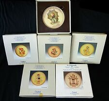6x Vtg Goebel Mixed Lot Collectors Plates '85/'86/'87/'88/'95 & Plaque '78 (Coc)