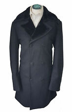 JEFF BANKS 24:7 MEN'S WOOL RICH DOUBLE BREASTED CHARCOAL COAT SIZE XL *VGC*