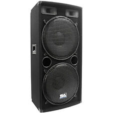 "Seismic Audio Dual 15"" PA DJ SPEAKER 500 Watts PRO AUDIO ~ NEW Band"