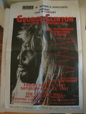 George Clinton and the Funkadelics Rare Genuine Tyvex Poster Toronto Show 1991