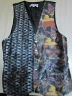 THEO Vintage Oversized Vest Great for Men & Women Multi Color Unique Design W@W!