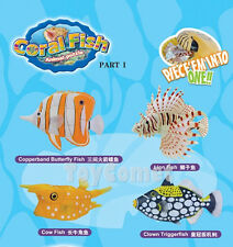 Set of 4 Coral Fish Animal Part I 4D 3D Puzzle Model Kit Toy