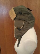 NWT American Eagle Wolf Flyers Trapper Winter Hat Army Green ONE SIZE Sherpa