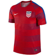 NEW 2016 Nike Team USA Soccer Jersey Red Blue Dri Fit Performance Men's Large L