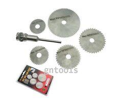 6PC HSS Steel Saw Cutting Cut Off Discs Wheel Set Suit Most Mini Rotary Drills