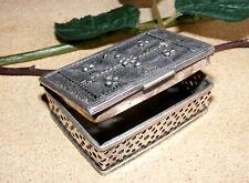 antik orient Silber Pillendose Silberdose Schatulle, Kästchen pill box Nr-135