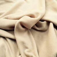 BEIGE Polar fleece soft fabric material antipill 150cm wide sold by metre