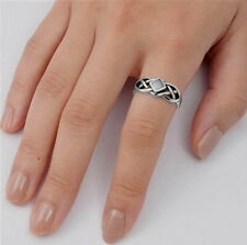 USA Seller Celtic Knot Ring Sterling Silver 925 Best Deal Stone Jewelry Size 6