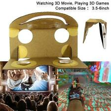 DIY Cardboard Quality VR Virtual Reality 3D Glasses for google/android/Iphone A`