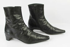 Bottines PERLATO Cuir Noir T 37 TBE