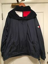 Tommy Hilfiger Jeans Flag Logo Coat Extra Large Vintage 90s Blue Red White Vtg