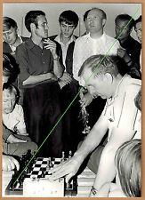 Photo 18 x 13 vintage partie d'échec chess Russie Russia 1976 gd029