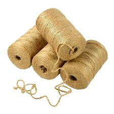 Cylindrical Twisted  Hemp Cord Craft Linen Rope Natural Burlap Jute Twine1 Roll