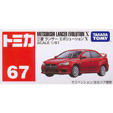 Takara Tomy Tomica #67 Mitsubishi Lancer Evolution X 1/61 Diecast Toy Car JAPAN