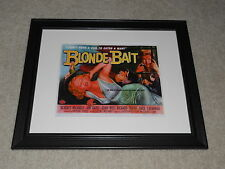 "Framed Blonde Bait Mini-Poster, UK QUAD Print 1956 Cult Hit 14""x17"""