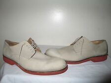 MARC JACOBS MEN'S  GREY DERBY LEATHER SHOES MADE IN ITALY SIZE 12