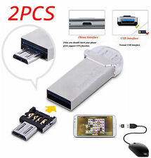 2pcs Mini USB Male to USB Female OTG Adapter Converter For Android Tablet Phone