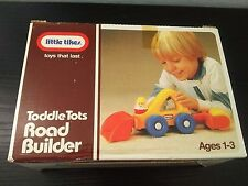 Vintage 1986 LITTLE TIKES Toddle Tots Road Builder w Original Box and Insert Toy