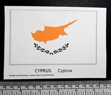 "Cyprus - flag water-slide transfer 117 x 72 mm (4.1/2"" x 2.3/4"")"