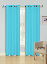 2 panels splended BLACKOUT BABY BLUE grommet window curtain LINED 1 PAIR