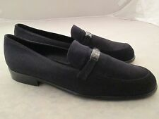 Coach Womens Fabric Black Flats Loafers Shoes 10 M